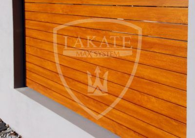 Alu wood fence (detail)