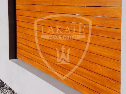 Aluminium Zaun Holzstruktur