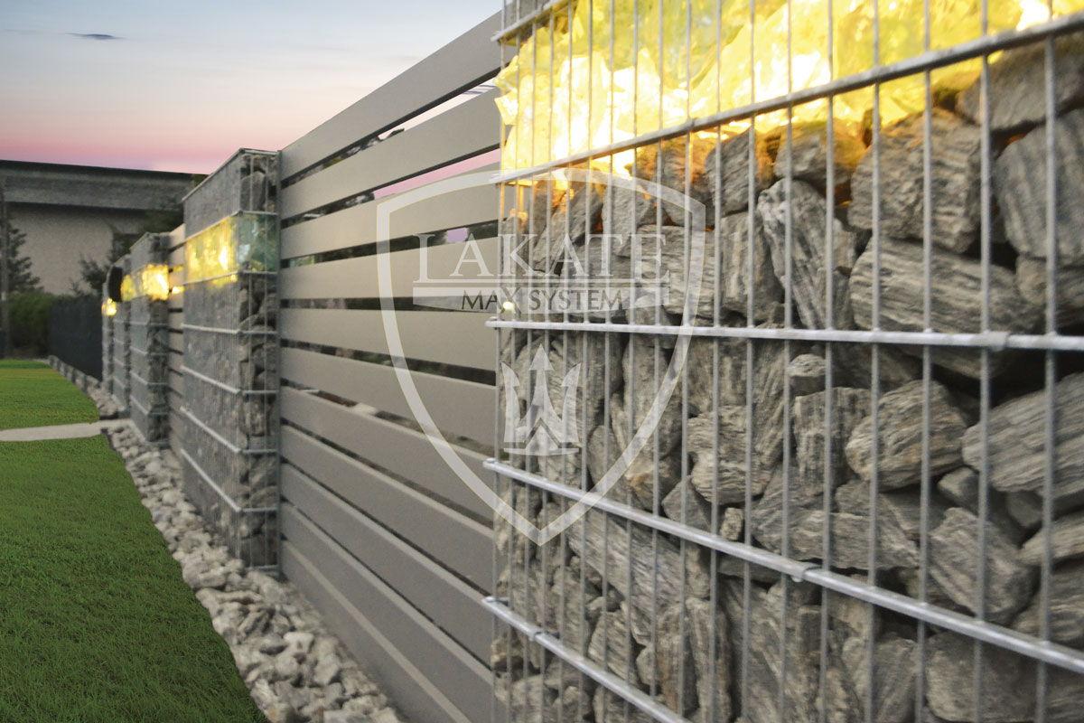Ogrodzenie gabionowe, przęsła, Alu Wood Fence