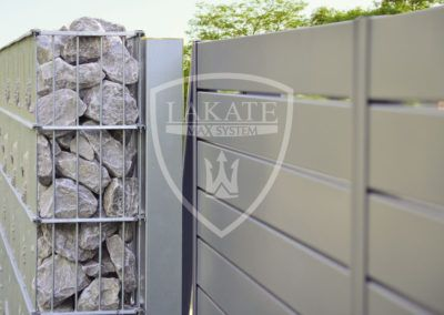 Gabion and aluminum zäune