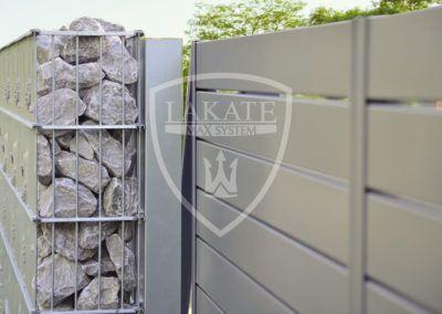 Gabion und Aluminum Zaun