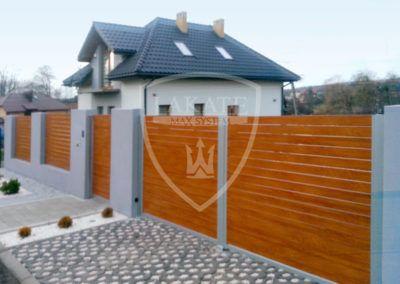 Aluminium Gartentor  in Holzstruktur