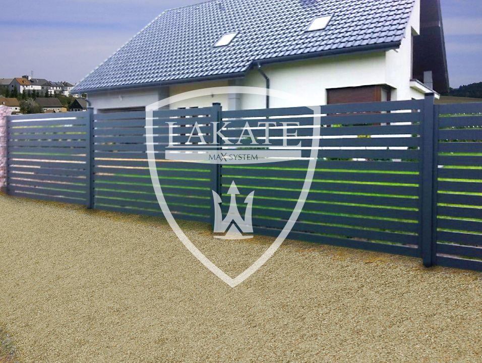 Nowoczesne aluminiowe ogrodzenia na słupach - Jaworzno
