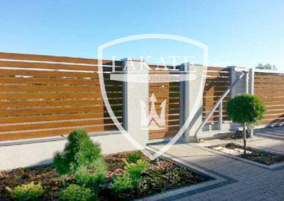 Moderner Aluminiumzaun (Alu Wood Fence), Pforten