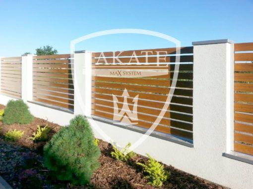 Aluminium Zäune – Natürliche Holzstruktur