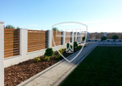 Moderner Zaun aus Aluminium, Einfahrtstore
