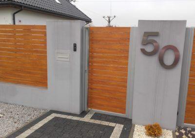 Moderner Zaun aus Aluminium (Alu Wood Fence)