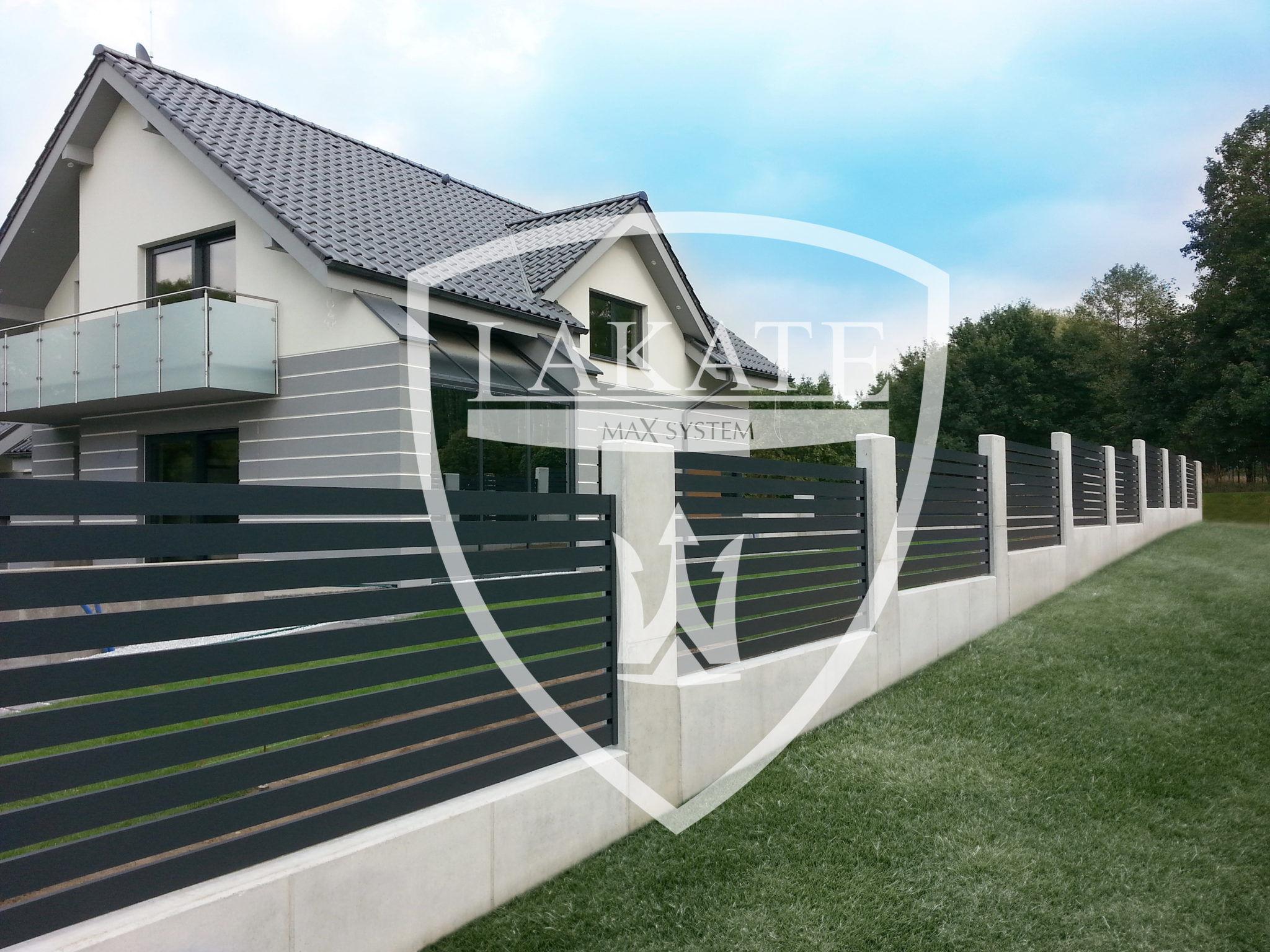 ogrodzenie aluminiowe ogrodzenie z betonu architektonicznego